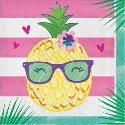 Tovagliolo 33 x33 cm Ananas...